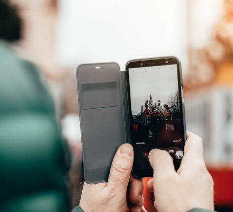 social media outdoors