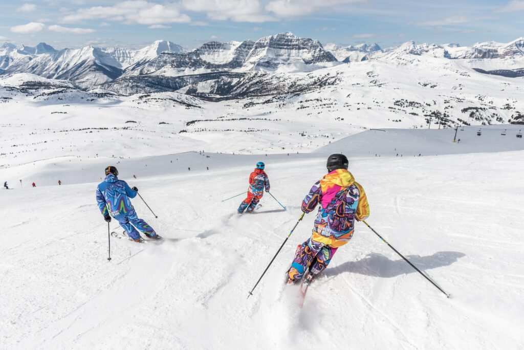 skiing with a guide